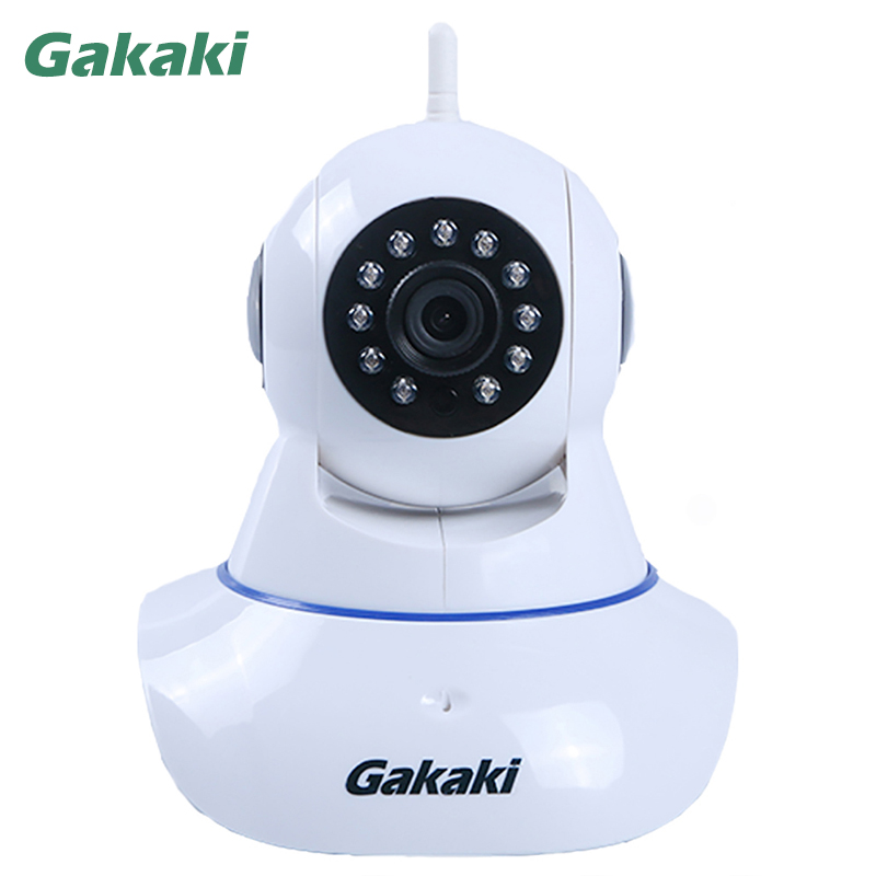 Gakaki Wifi IP Camera HD Wireless P2P CCTV Network Camera Audio Monitoring Security Baby Monitor Support Linkage Alarm Function<br>