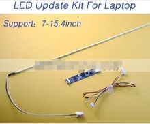 LCD Laptop Dimable LED Backlight Lamps Adjustable Light Update Kit Strip+Board 9-25V Input Free Shipping