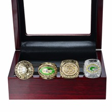 NEW SUPER HIGH QUALITY 1966 1967 1996 2010 GREEN BAY PACKERS SUPER BOWL CHAMPIONSHIP RING, 4 PCS RING SET COLLECTION(China)
