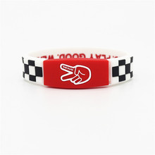 1pcs/lot new arrival silicone power sports wristbands look good play good wear deuce balance bracelet energy bangle