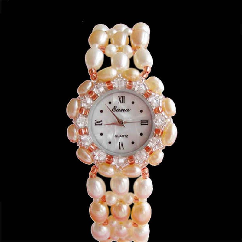 GOOSUU Original Fashion Pearl Bracelet Band Wristwatches For Women Outdoor Vintage Lady Watch Crystal Pearl Luxury Reloj Mujer<br>