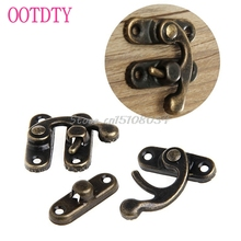 12PCS Antique Decorative Jewelry Gift Wine Wooden Box Hasp Latch Hook + 4 Screws -S018 High Quality