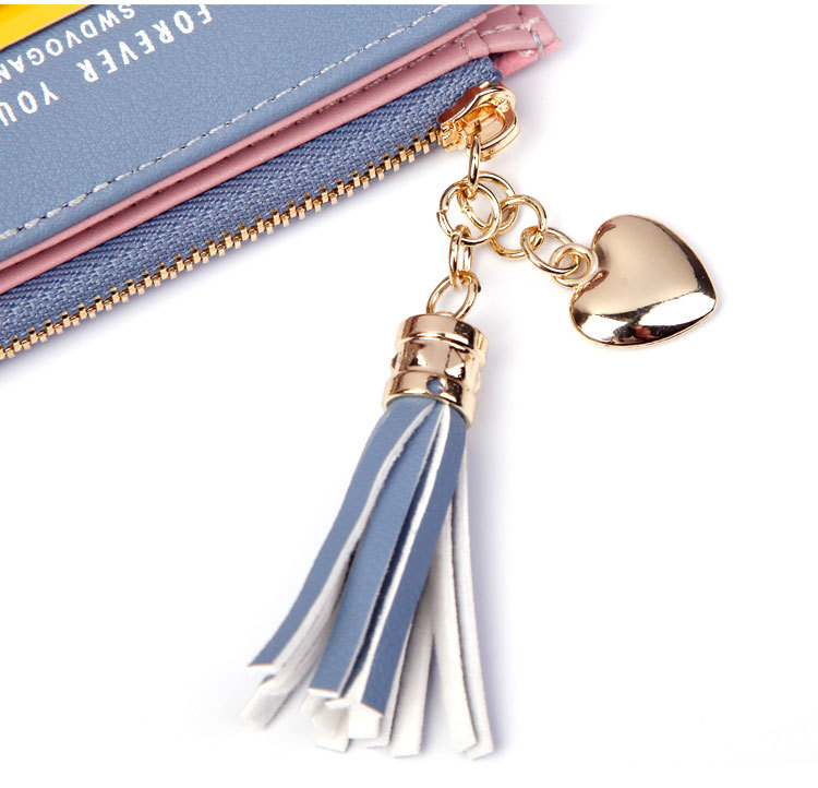 2018 Fashion Ladies Wallet Female Short Zipper Coin Purse Small Wallets Young Womens Tassel Hasp Purses Button Card Holder Pouch 82