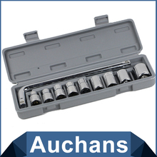 10pcs/set Ratchet Wrench Sleeve Combination Tool Maintenance Suit 1/2 With Best Price