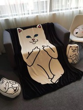 Hot ! Ripndip Nermal Pocket Soft Blanket Fleece Blanket Throws on Sofa/Bed/Plane Travel Plaids Carpet 150*200cm Free Shipping(China)