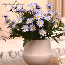 New 24 heads/bouquet spring lovely daisy silk samll sunflower home decoration Photo props artificial chrysanthemum