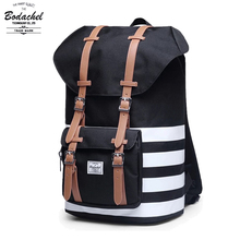 24L large Bodachel vintage Backpack Black Brand Men Women america Classic schel Mochila corujas travel Backpack military bag(China)