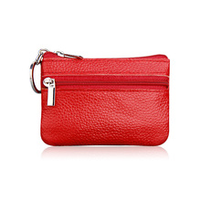 Genuine Leather Coin Purses Men Women's Cute Small Change Money Bags Children's Pocket Wallets Key Holder Case Mini Zipper Pouch(China)