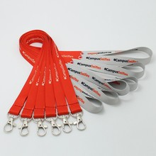 Cheap 2CM widthx90CM length polyester neck lanyard with custom logo& text words silk screen print lanyards
