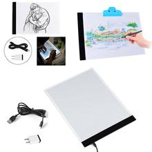 Ultra Thin For LED Light A4 Copy Board Super Thin Artcraft Drawing Table Pad  Copying Sketch Tracing Display US Plug