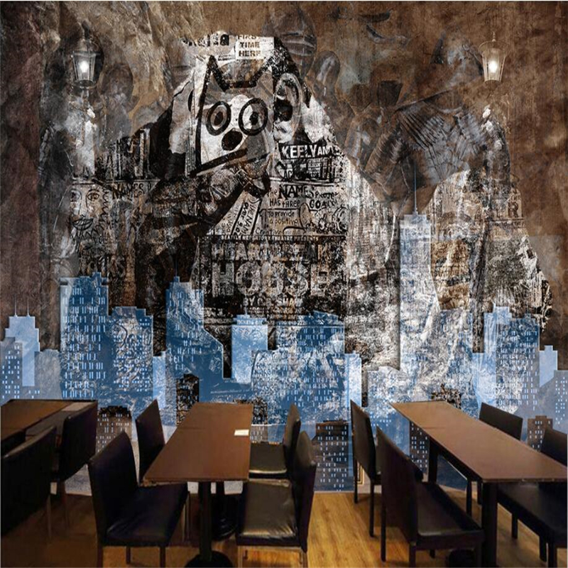 beibehang Custom 3d wallpapers abstract retro nostalgic graffiti stone wall three D large-scale fresco background decoration<br>
