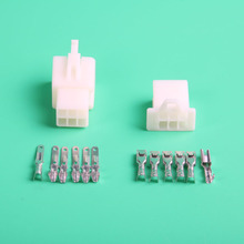 10sets 2.8mm 6 Way/pin automotive male female electronic wire connectors terminal Kits socket plug for Motorcycle Motorbike Car