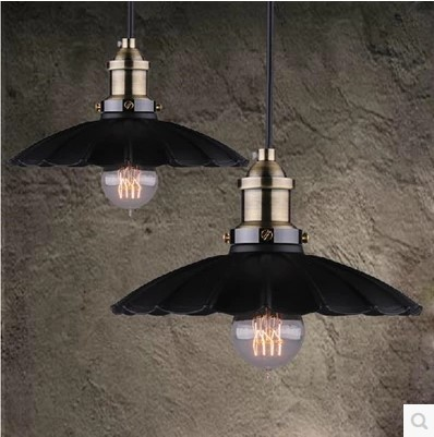 Loft Style Vintage pendant Lights Loft Style Industrial Lighting Fixtures Hanglamp Black Iron Painting Pendentes De Teto<br>