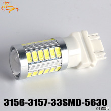 2pcs  car 3157 P27/7 W 33 smd 5630 5730 car LED Luzes de Freio do motor daytime running luz Turn Signal 3156 3057 3456 3757