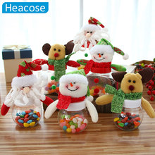 Christmas Candy Jar Sugar Five-pointed money box snowman plush toys Santa Gifts Ornaments navidad new year Christmas Decoration