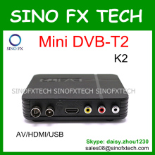 mini DVB-T2 set top box K2 full hd 1080p MPEG4 digital tv box DVBT2 dvb t2 wholesale