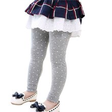 Spring Autumn Winter Warm Leggings Kids Girls Soft Full Skinny Pants Toddler Children Trousers 1-6Y(China)