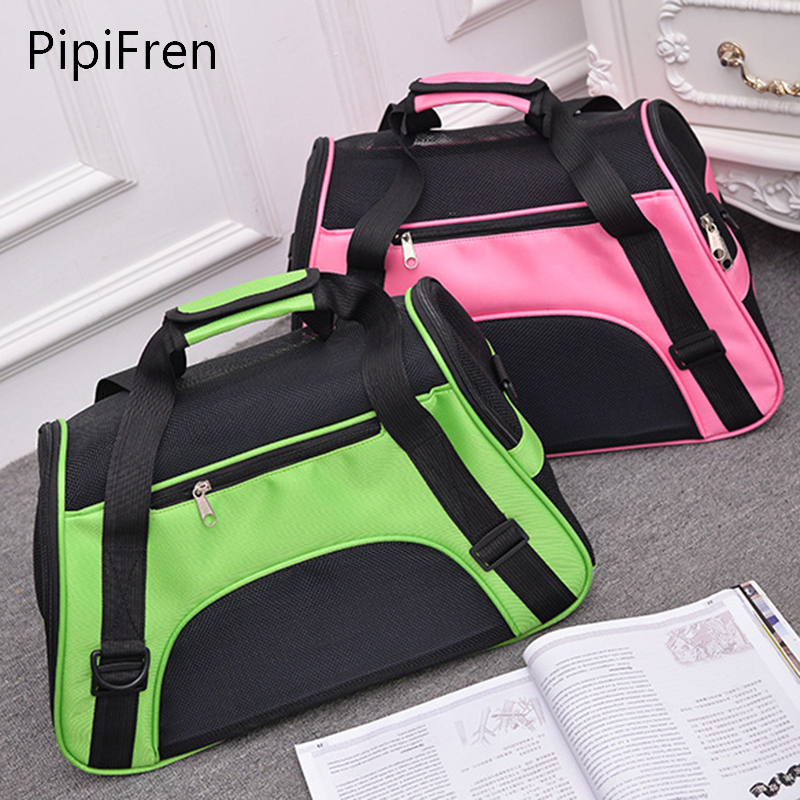PipiFren Carrying Bags For Dogs Small Pet Carrier Bag Backpack Cats Carriers Crate Travel sac de transport chien chat honden tas(China)