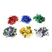 2017 new 6mm/ 10mm Stars Table Confetti Sprinkles Birthday Party Wedding Decoration Blue Gold Silver Green Metallic Stars(China)