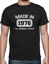 Summer Mens Print T Shirt Birthday Gift Idea Made In 1976 40Th T Shirt Bday Present Men'S High Quality Tees(China)