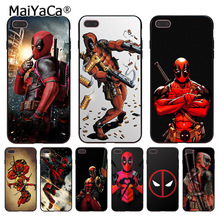 MaiYaCa Deadpool Marvel Wade Winston Wilson Coque phone Case for Apple iPhone 8 7 6 6S Plus X 5 5S SE 5C Cover(China)