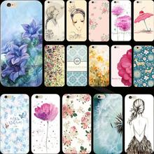 5C Hot Sold!! Popular Painted Flower TPU Cover Case For Apple iPhone 5C iPhone5C Cases Phone Shell Newest Arrival Hot Selling