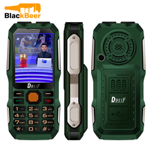 DBEIF D2016 Seniors Old Man Key Dual Flashlight Shockproof MP3/MP4 Powerbank Magic Voice Antenna Analog TV Rugged Mobile Phone(China)
