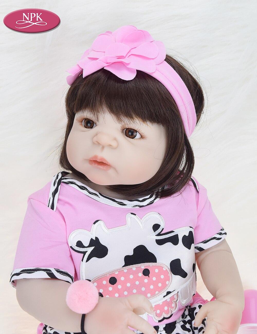 NPK Real 57CM Full Body SIlicone Girl Reborn Babies Doll Bath Toy Lifelike Newborn Princess Baby Doll Bonecas Bebe Reborn Menina (8)