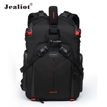 2017 Jealiot Multifunctional Professional Camera Bag laptop Backpack digital camera waterproof Video Photo case for DSLR Canon(China)