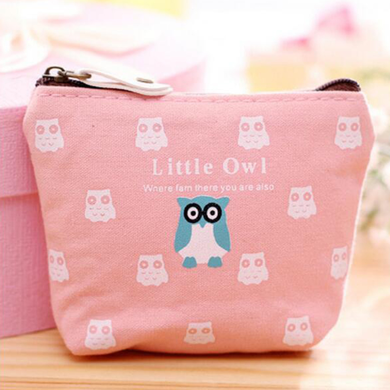 Creative Cartoon Lovely Ladies Canvas Fabric Containing storage Wallet Canvas Zero wallet Wedding Zero bag coin purse s15(China (Mainland))