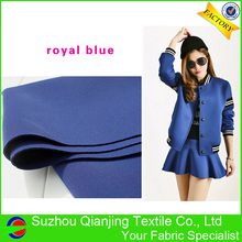 Factory Directly Provide Spandex Stretch Drapery Royal Blue Neoprene Fabric Manufacturers(China)