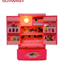 Surwish Educational Toy Mini Electric Refrigerator Children Pretend & Play Baby Kids Home Appliances Toy - Pink(China)