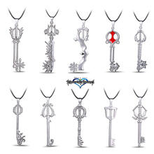 10 Styles Silver Kingdom Hearts Figure Weapon Pendant Necklace Christams Gifts Box Cosplay Anime Wholesale Price Good Quality