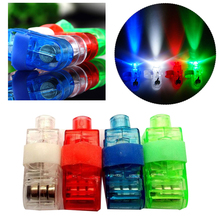 4Pcs/set LED Finger Lights Lamps Party Beam Torch Ring Gift Toys For Children(China)
