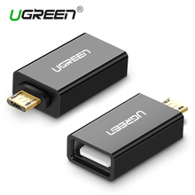 Ugreen Micro USB OTG Adapter Male to USB 2.0 Micro Adapter Converter for Samsung Xiaomi LG Huawei Android Mobile Phones(China)