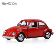 RMZ City Beetle 1976 1:32 Toy Vehicles Alloy Pull Back Mini Car Replica Authorized By The Original Factory Model Toys collection