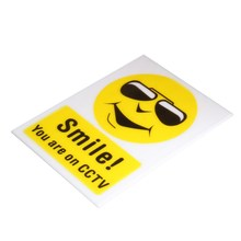 NEW Safurance SMILE YOU ARE ON CCTV Video Camera Sticker/Acrylic Security Warning Sign Decal Home Security(China)