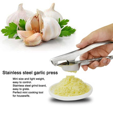New Premium Stainless Steel Kitchen Squeeze Tool Ginge Vegetable Crusher Garlic Presses Multifunctional Home Cook Kitchen Tool(China)
