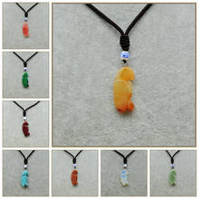 Natural Crystal Necklace Parrot Pendant Moonstone Collares Mujer Mystic Topaz Sautoirs Femme Sapphire Rose Quartz Garnet Emerald
