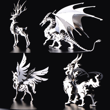 3D Assembling Metal Model Spines Dragon Puzzle Dinosaur Creative DIY Toys For Kids Manual Christmas Gifts