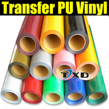 50CMX100CM/LOT Transfer PU VIINYL FOR CLOTHES, Fabric PU HEAT TRANSFER FILM BY FREE SHIPPING