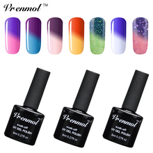 Vrenmol 1Pcs Chameleon Thermo Fingernails Gel Varnish Semi Permanen Temperature Color Changing UV LED Nail Gel Polish