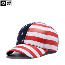 Wuke 2017 New Arrival Gorras USA Baseball Cap Flag Of USA Hat Snapback Adjuatable Mens Baseball Caps Brand New For Adult(China)