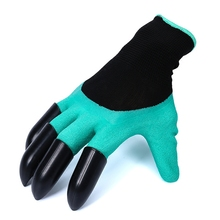 Universal Breathable Solid Color Garden Household Gloves Waterproof Non-Slip Beach Protective Gardening Glove For Digging(China)
