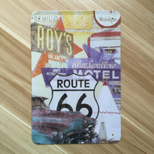 xsy-0002 NEW 2015 route  66 road and car  metal Tin signs Retro decoration House Cafe bar Vintage Metal plaque 20X30 CM