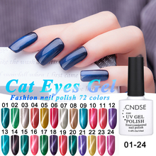 72 Colors Magnet UV Gel Color Magnetic Cat Eyes Gel Nail Polish LED UV Glue 10ML Soak-off UV Fingernail Gel Nail Varnish