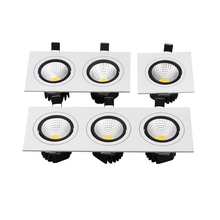 Square Recessed Downlight COB 7W 9W 12W 14W 18W 24W LED Ceiling Lamp AC110V -240V LED Spot light With Driver For Home Decoration
