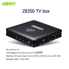 Bben Mini PC tv Computer box WIth Home Windows 10 with LAN and HDMI Intel  z8350 WiFi midea player 2GB/32GB