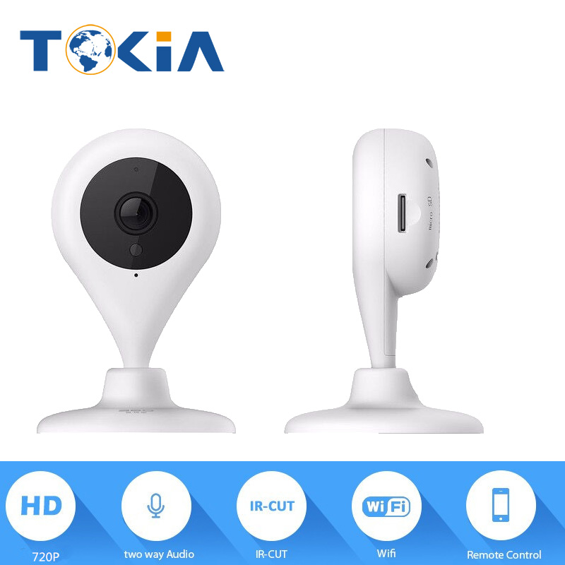 Max support 128G SD card day and night vision alarm security camera built-in mic 720P full HD home alarm systems remote camera<br>