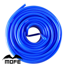 MOFE car auto accessory Universal Length:10m ID:6MM Vacuum Silicone Hose Blue Thickness:2.5mm Blue color